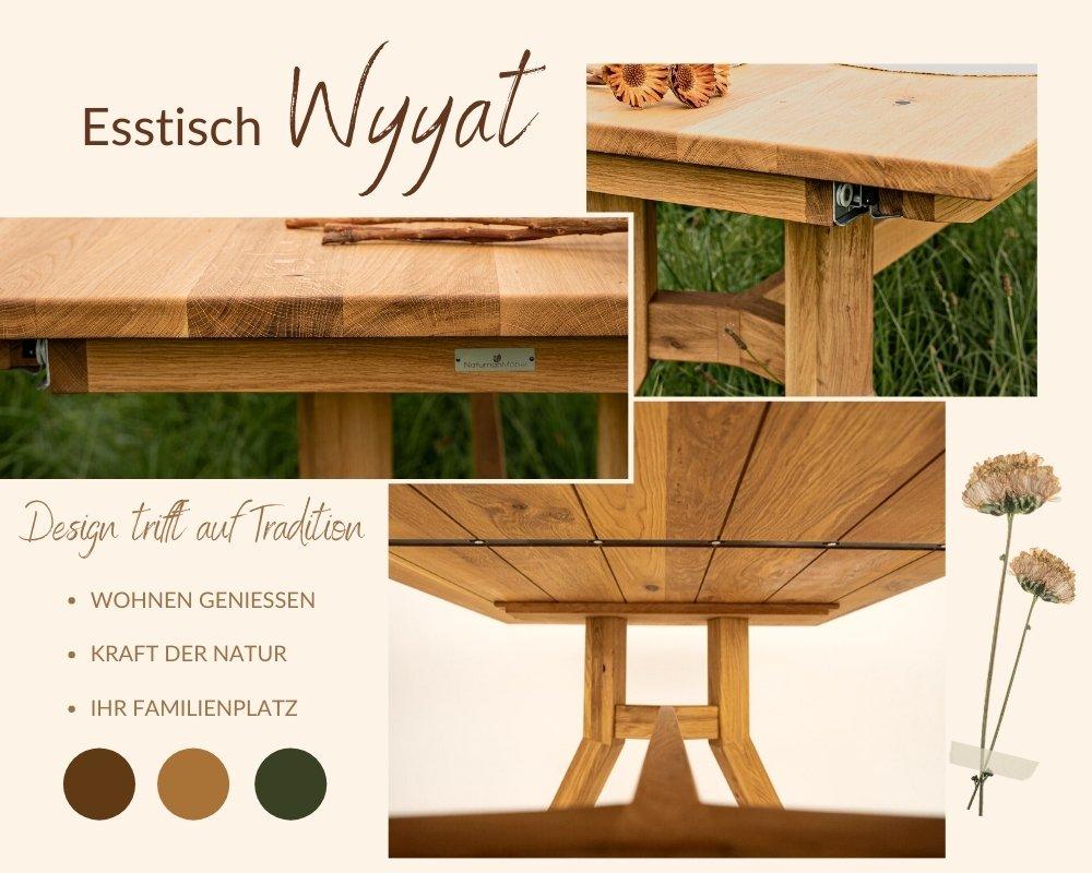 Esstisch Massivholz faszinierendes Design
